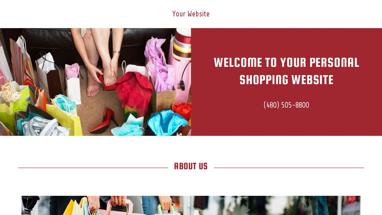 Personal Shopping Website: Example 17