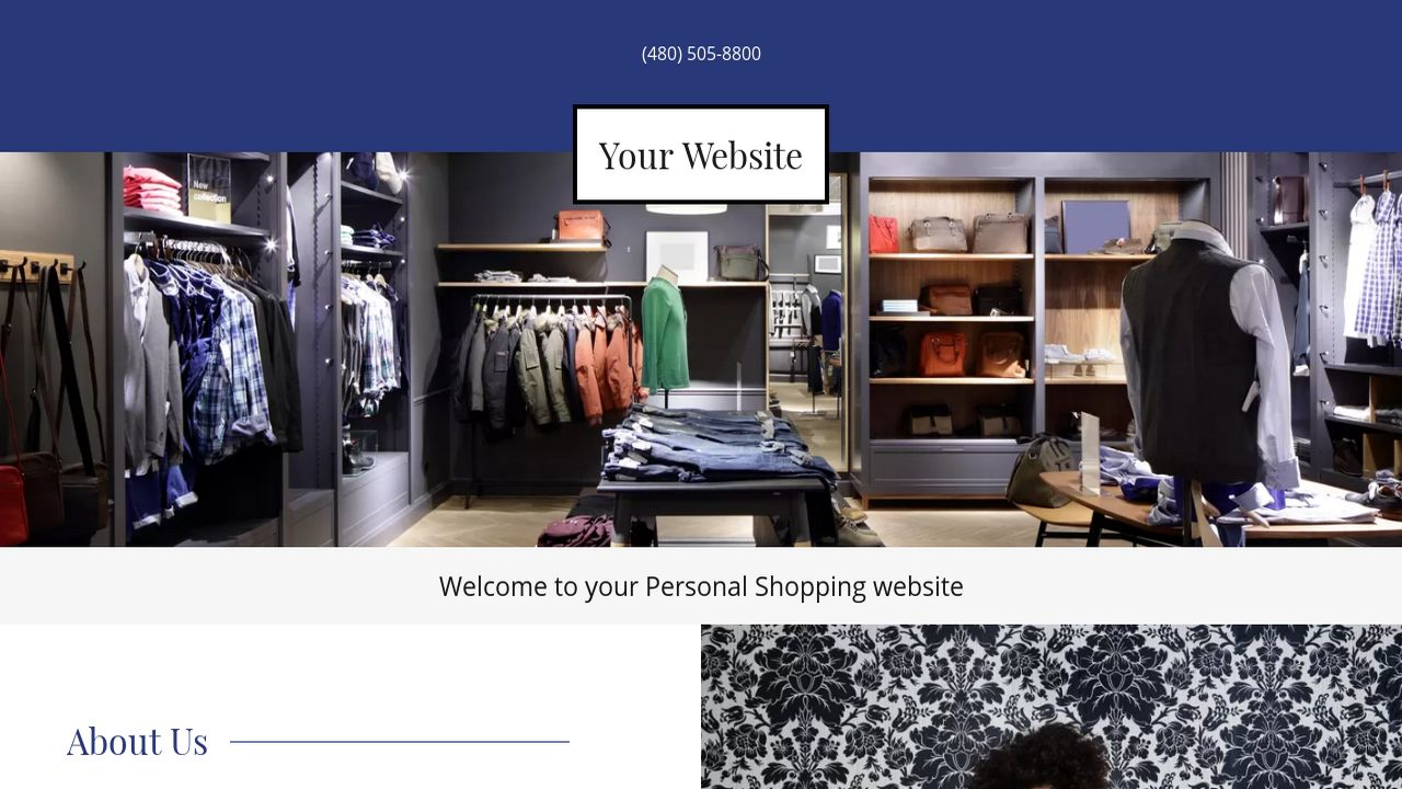 Personal Shopping Website: Example 18