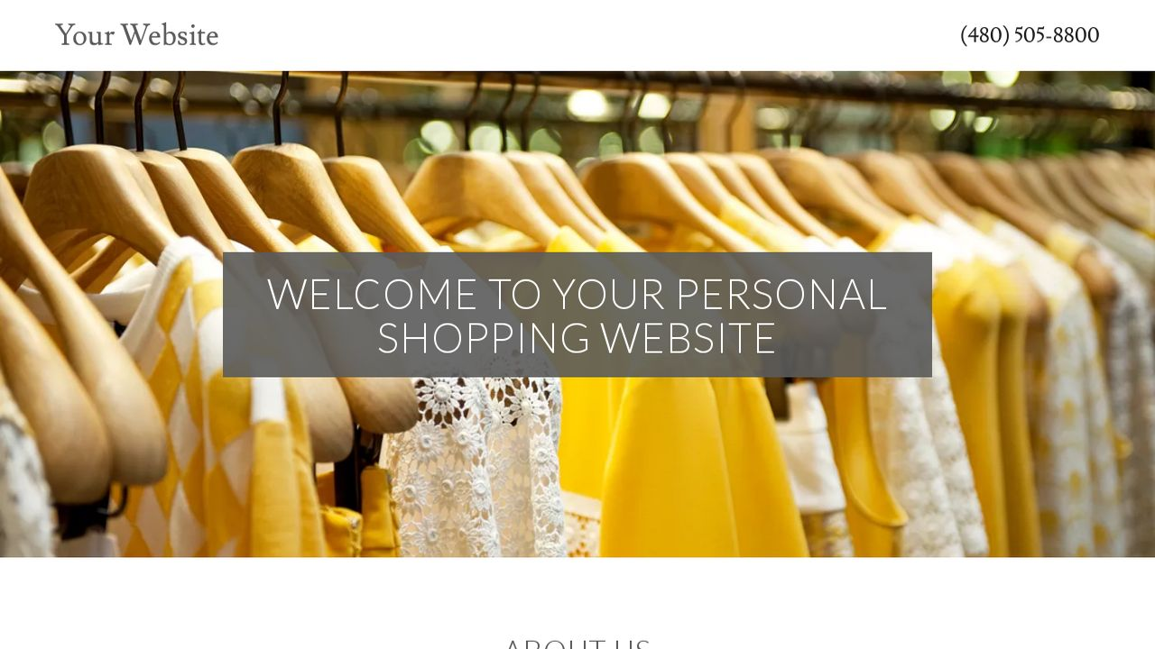 Personal Shopping Website: Example 2