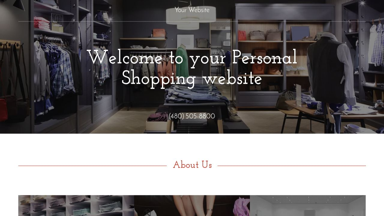 Personal Shopping Website: Example 5