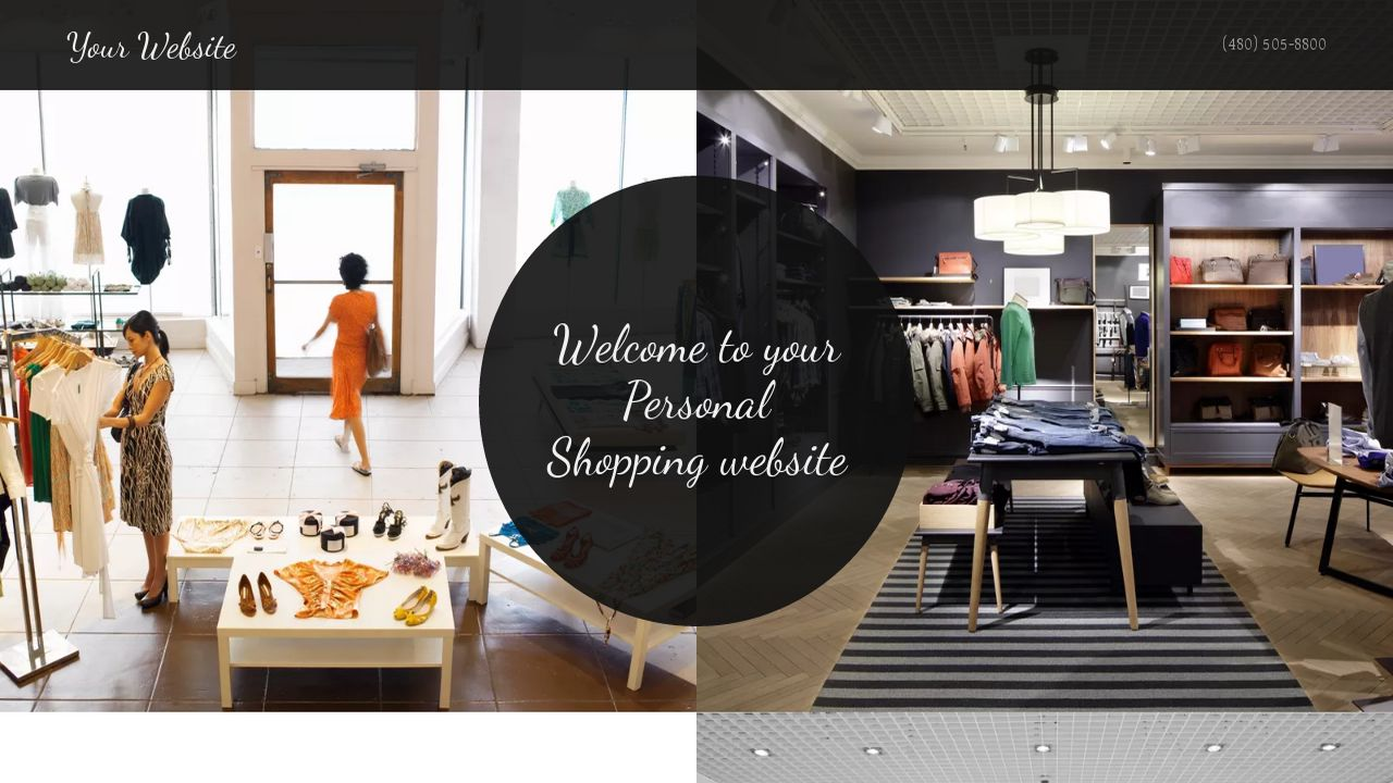 Personal Shopping Website: Example 8