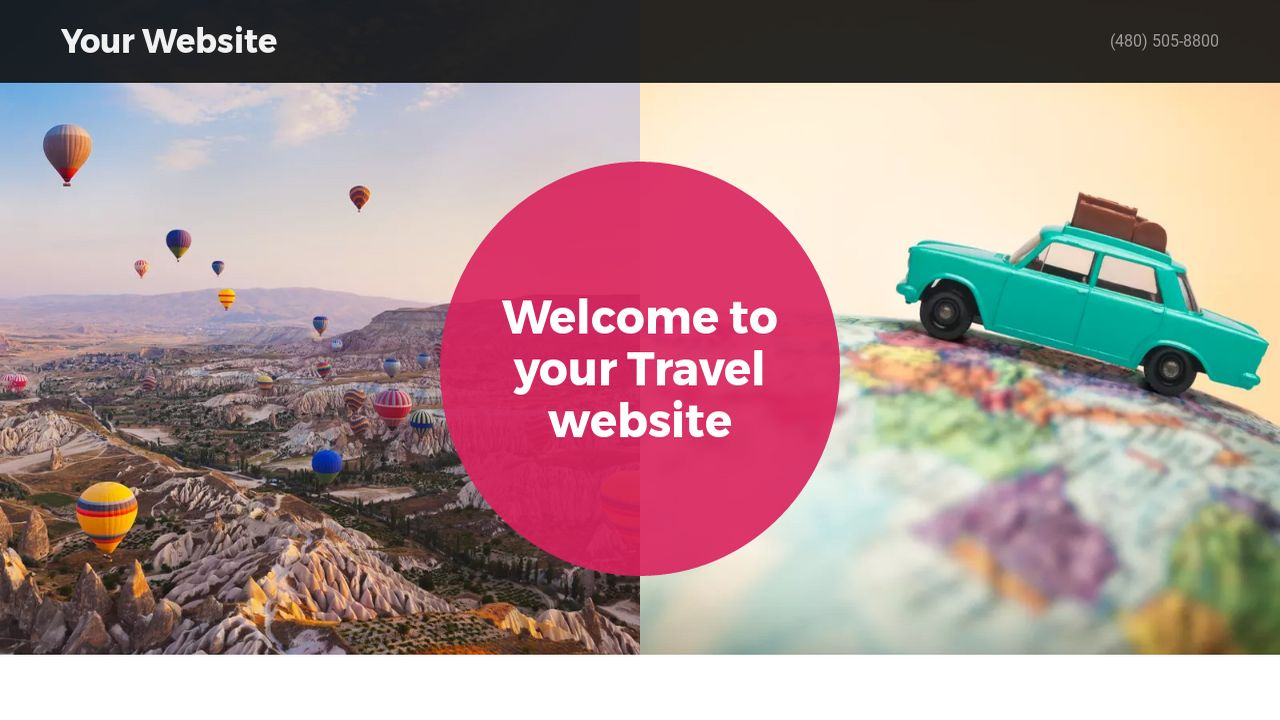 Travel website templates godaddy travel example 1 pronofoot35fo Image collections