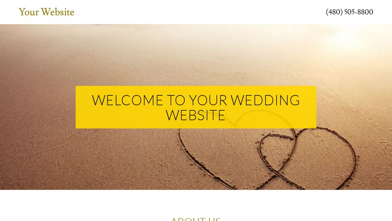 Wedding Website: Example 17