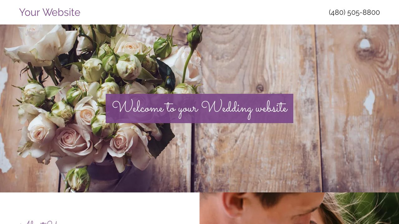 Wedding Website: Example 3