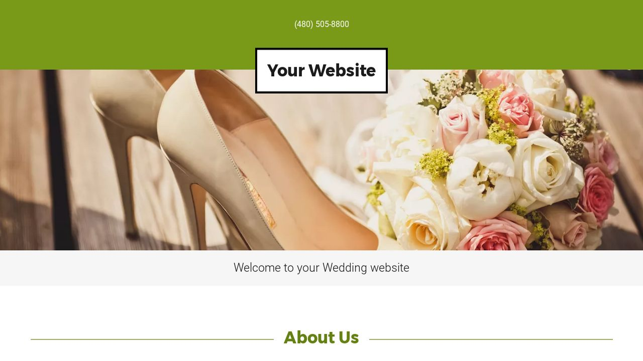 Wedding Website: Example 5