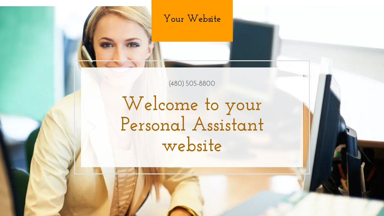 Example 1 Personal Assistant Website Template Godaddy