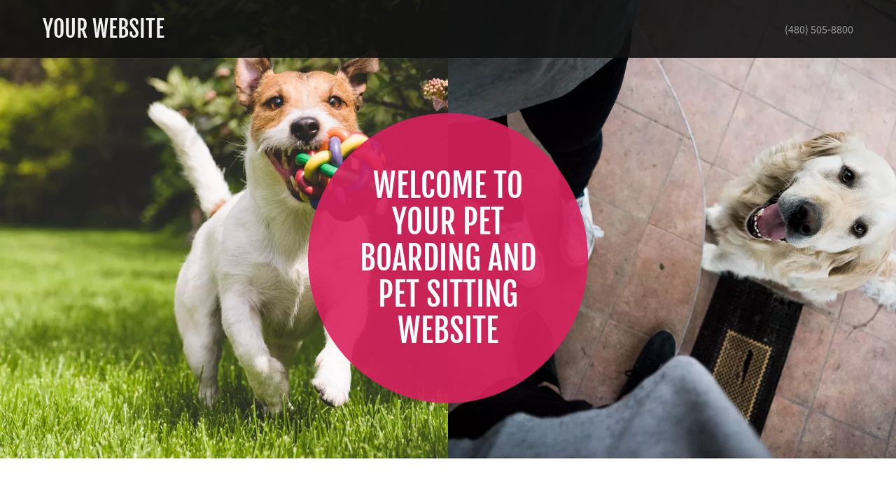 Example 6 pet boarding and pet sitting website template for Dog boarding website