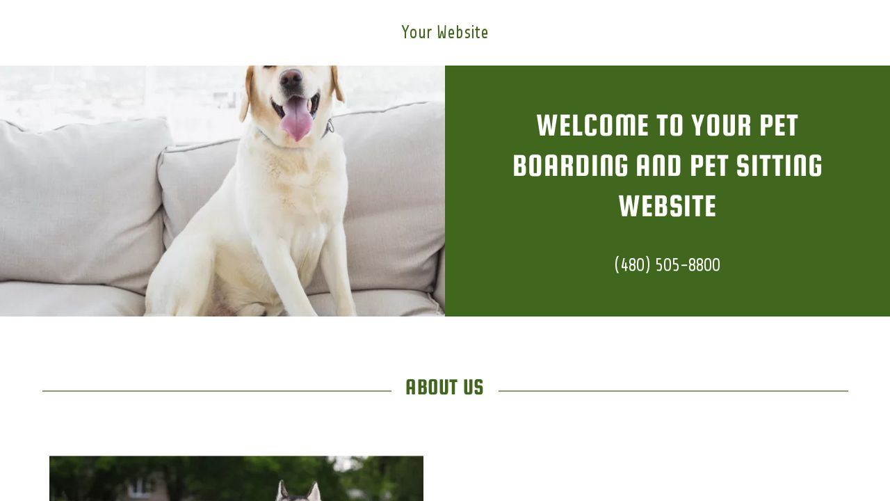 Pet boarding and pet sitting website templates godaddy for Dog boarding website