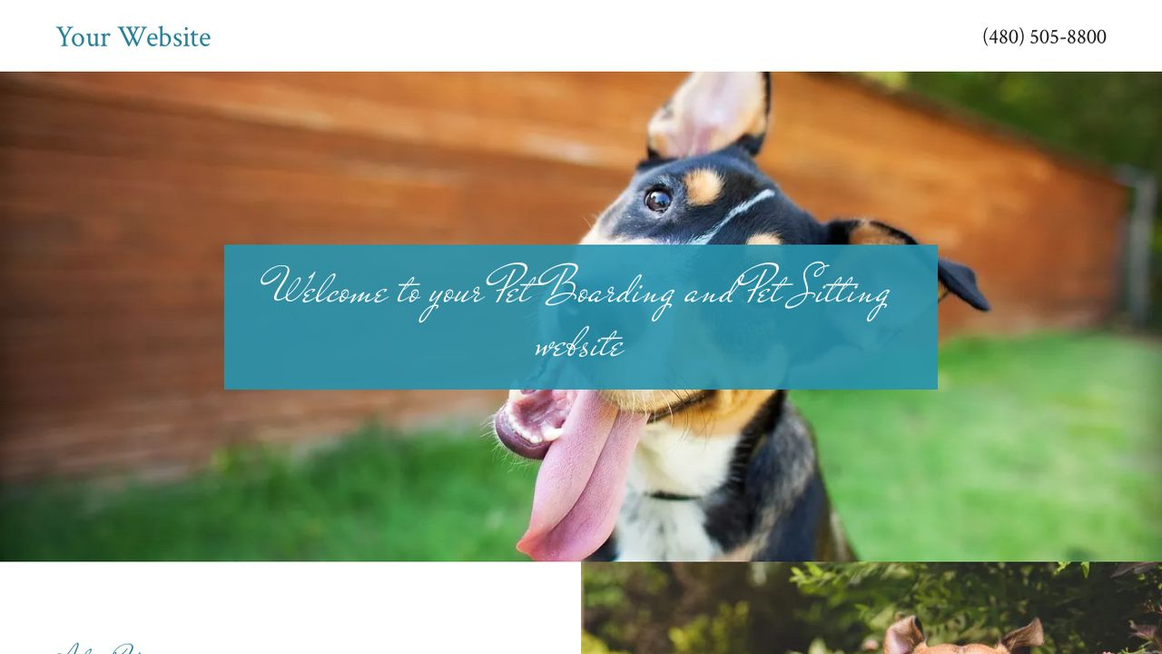 Example 12 pet boarding and pet sitting website template for Dog boarding website