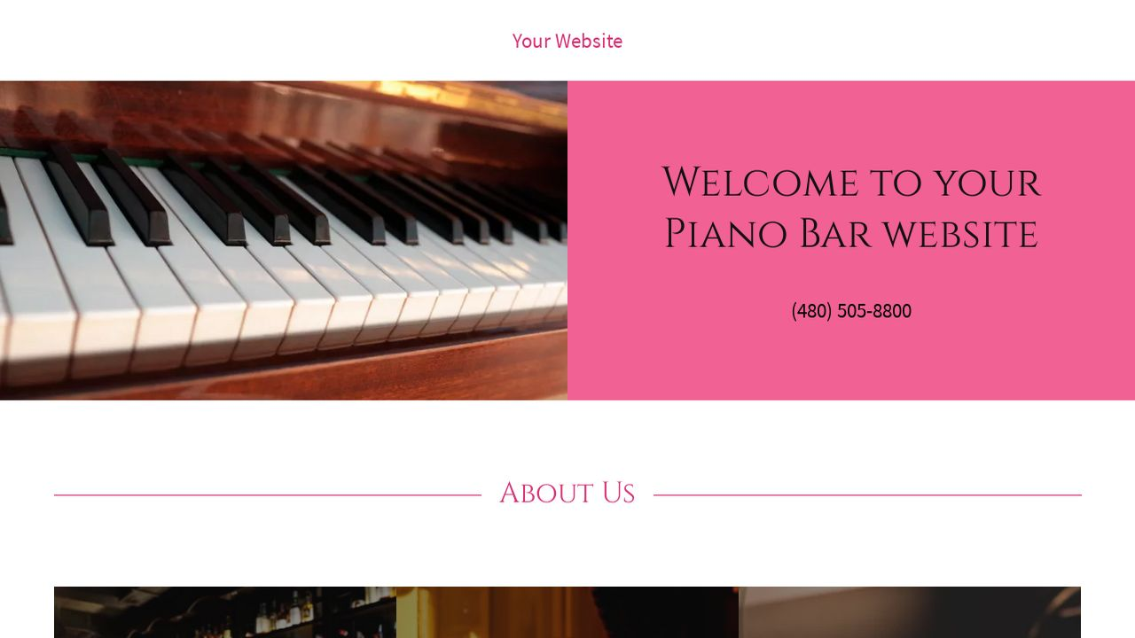 example 7 piano bar website template godaddy. Black Bedroom Furniture Sets. Home Design Ideas