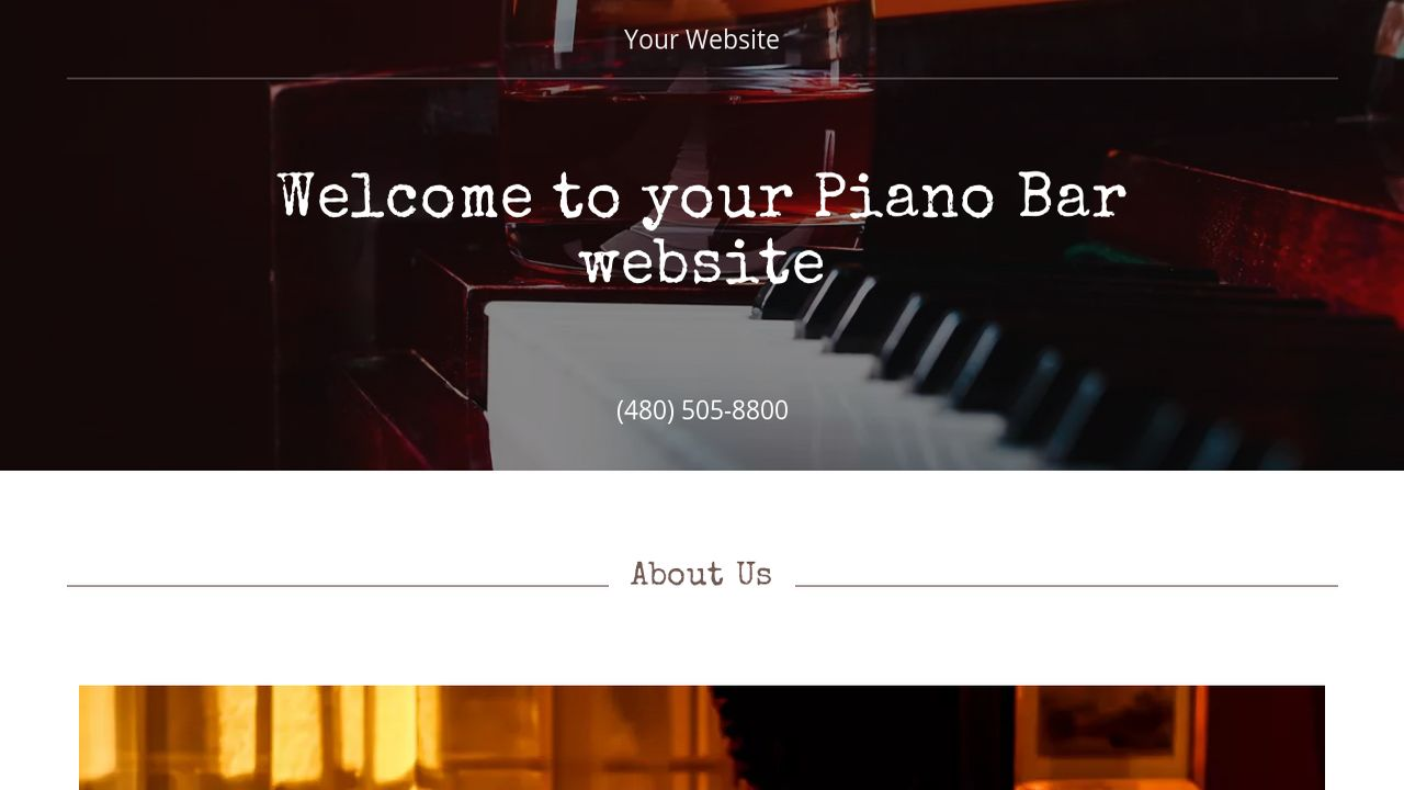 piano bar website templates godaddy. Black Bedroom Furniture Sets. Home Design Ideas