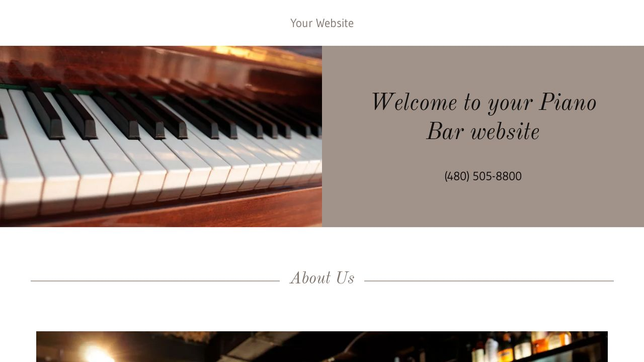 example 4 piano bar website template godaddy. Black Bedroom Furniture Sets. Home Design Ideas