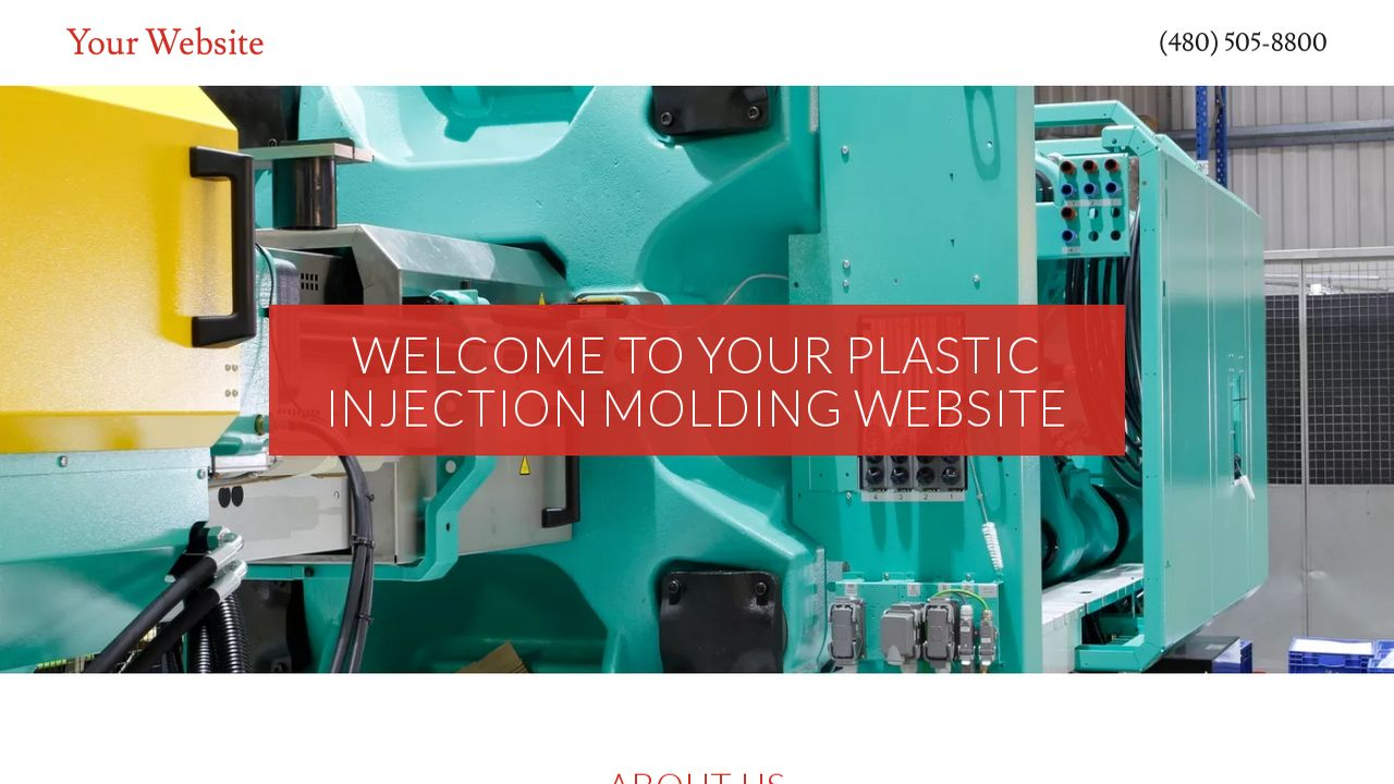 Example 9 Plastic Injection Molding Website Template   GoDaddy