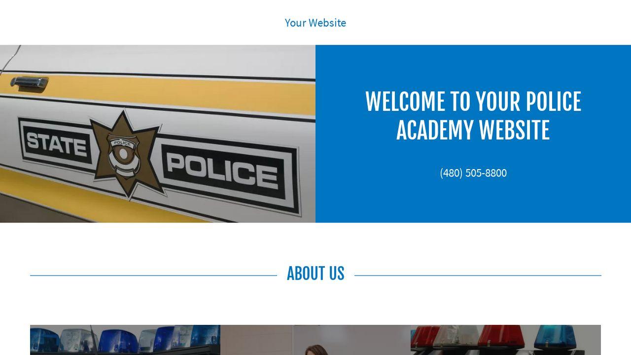 Police Academy Website Templates | GoDaddy