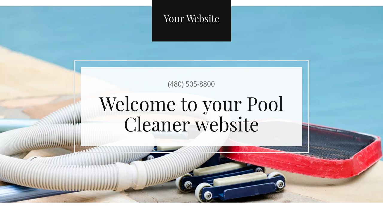 Pool Cleaner Website: Example 10