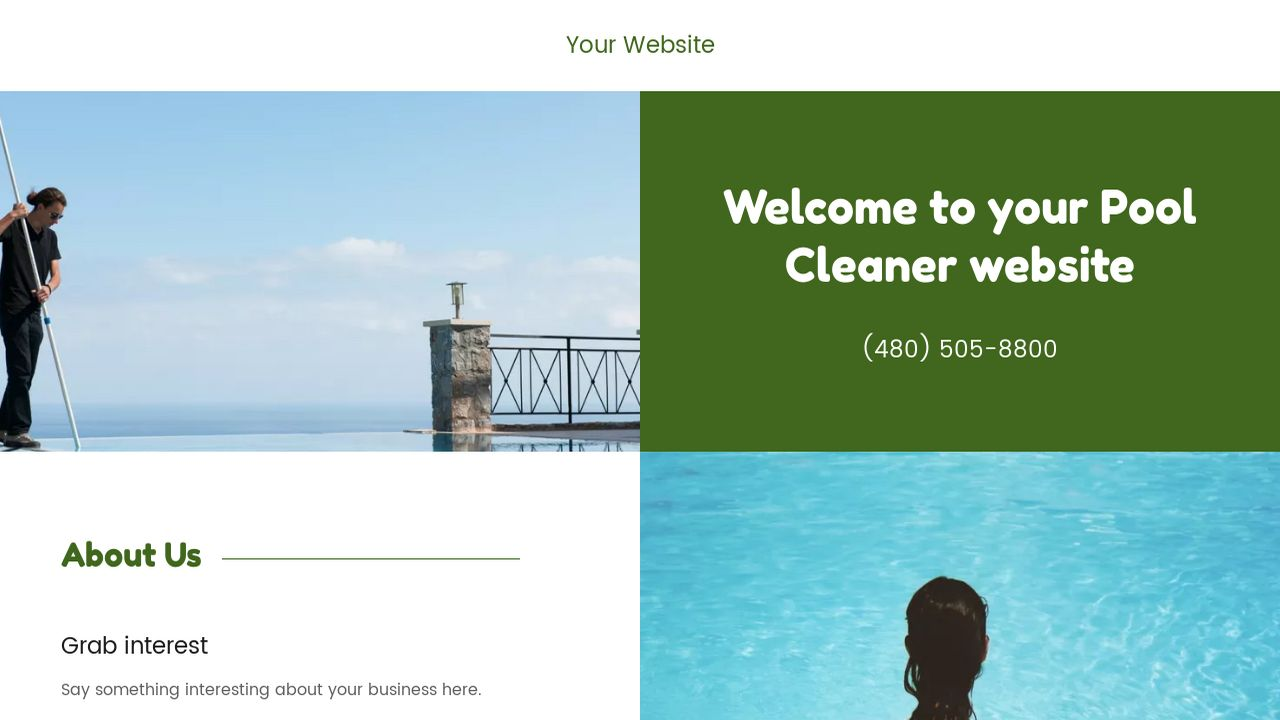 Pool Cleaner Website: Example 12