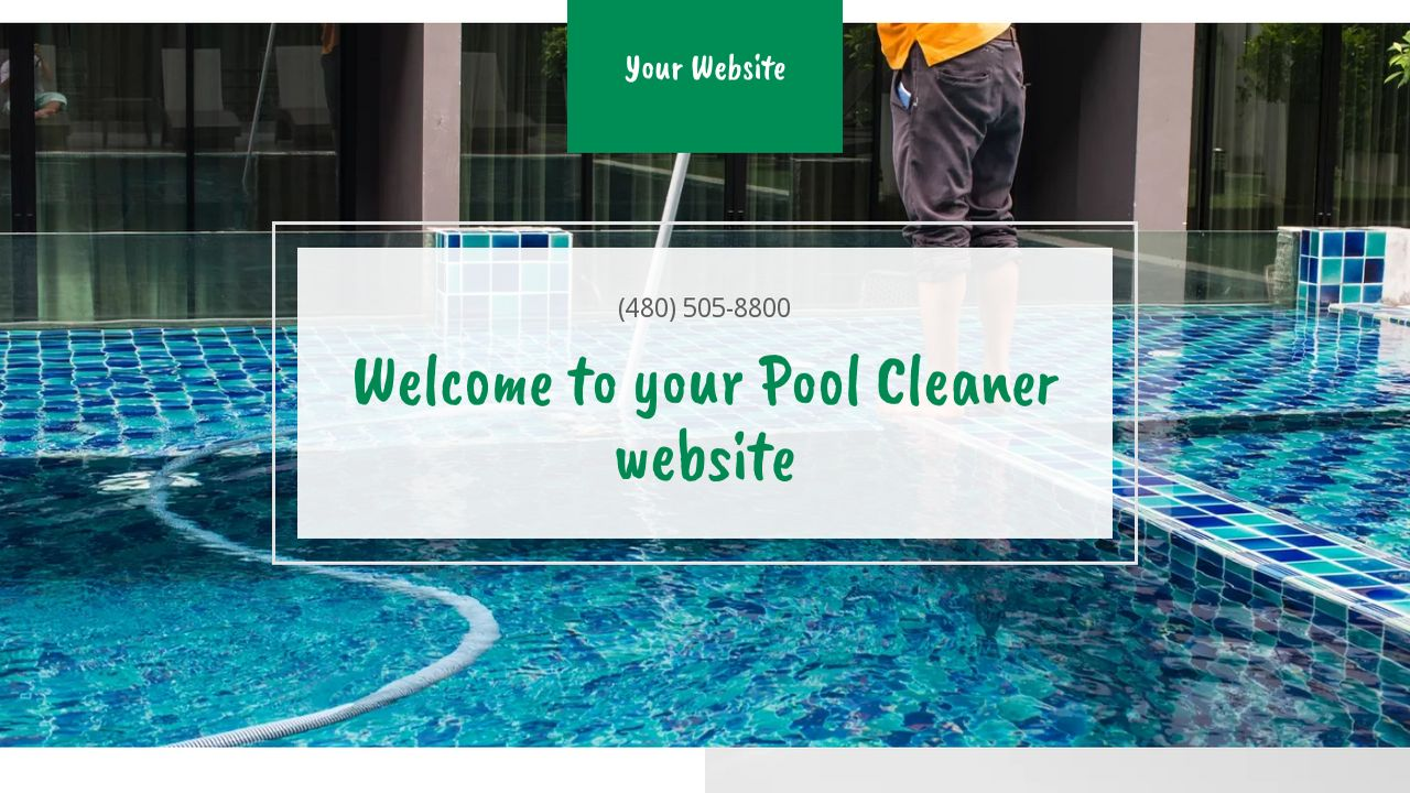 Pool Cleaner Website: Example 17