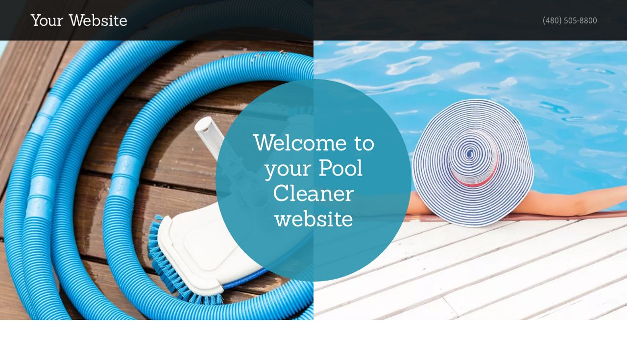 Pool Cleaner Website: Example 9