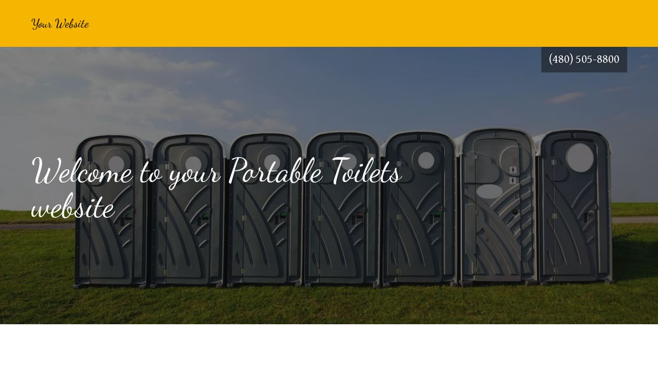 Portable Toilets Website Templates | GoDaddy