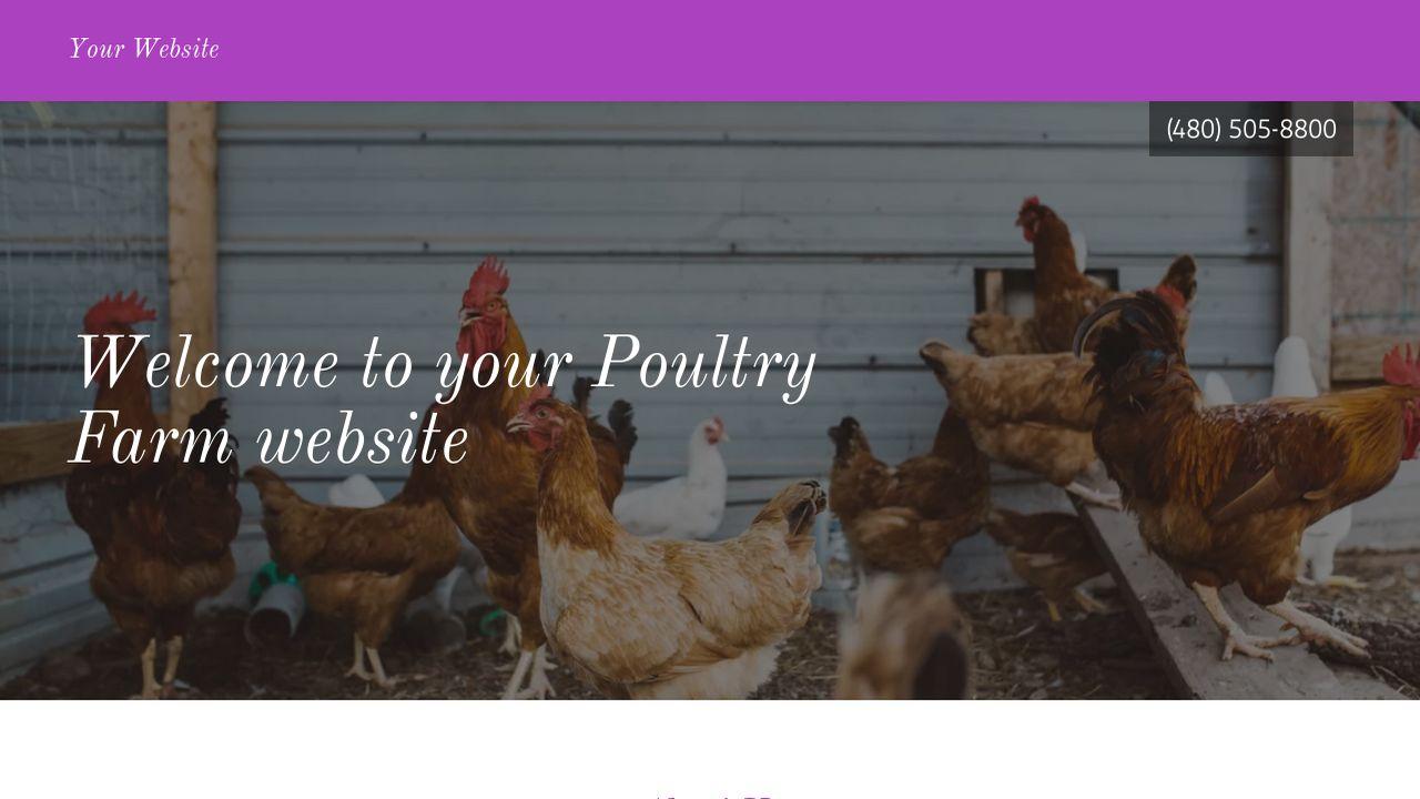 Poultry farm website template #28596.