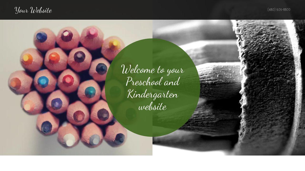 Preschool and Kindergarten Website Templates | GoDaddy