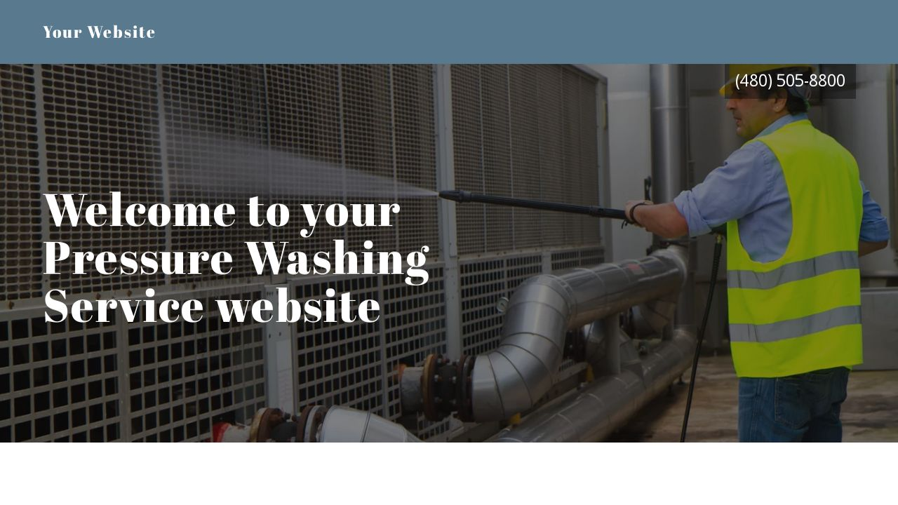 Pressure Washing Service Website: Example 10