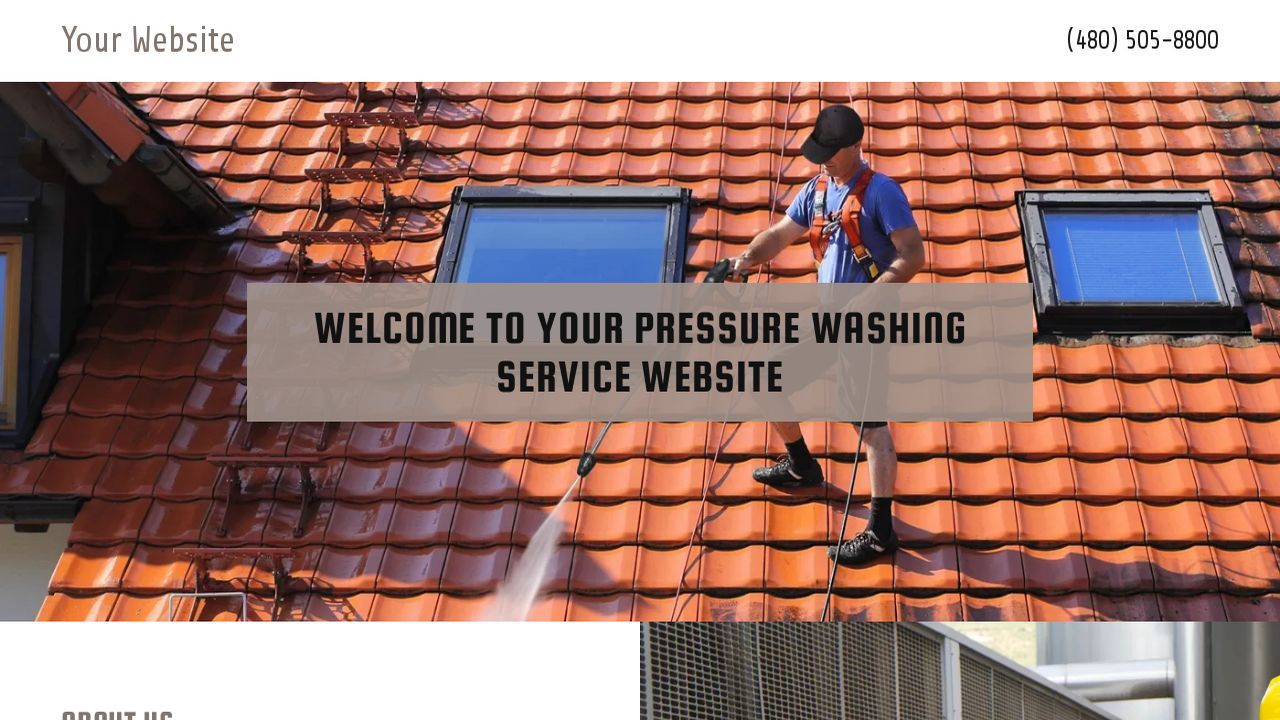 Pressure Washing Service Website: Example 11
