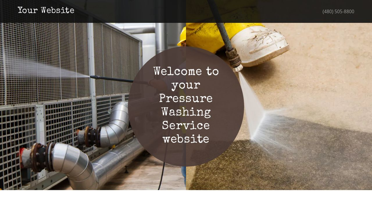 Pressure Washing Service Website: Example 15