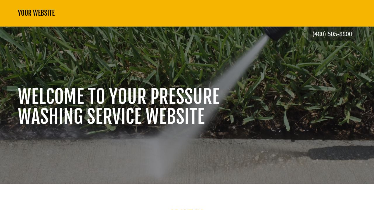 Pressure Washing Service Website: Example 17