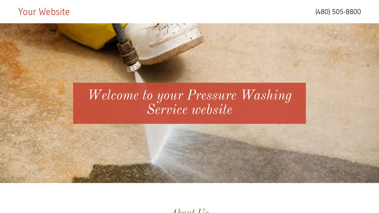 Pressure Washing Service Website: Example 18
