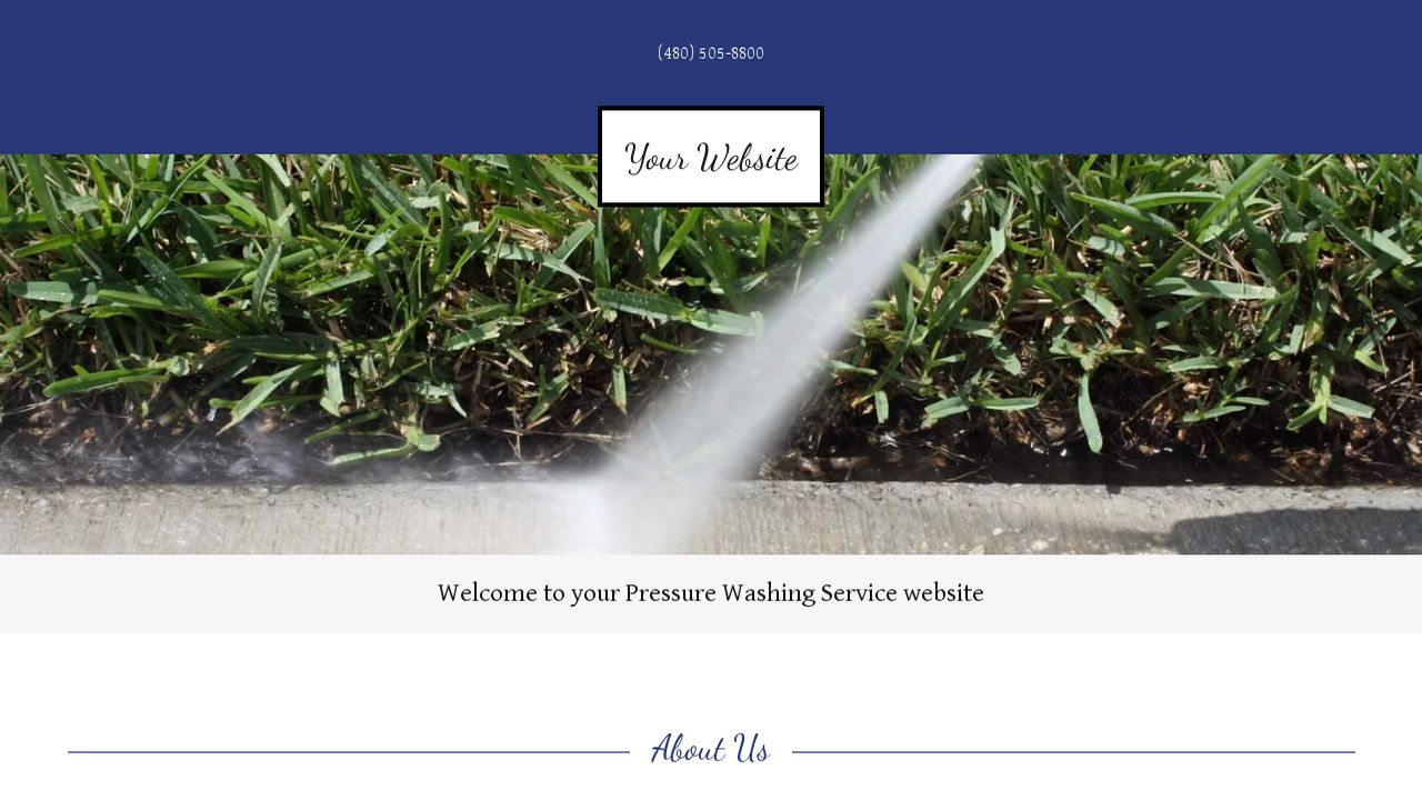 Pressure Washing Service Website: Example 2