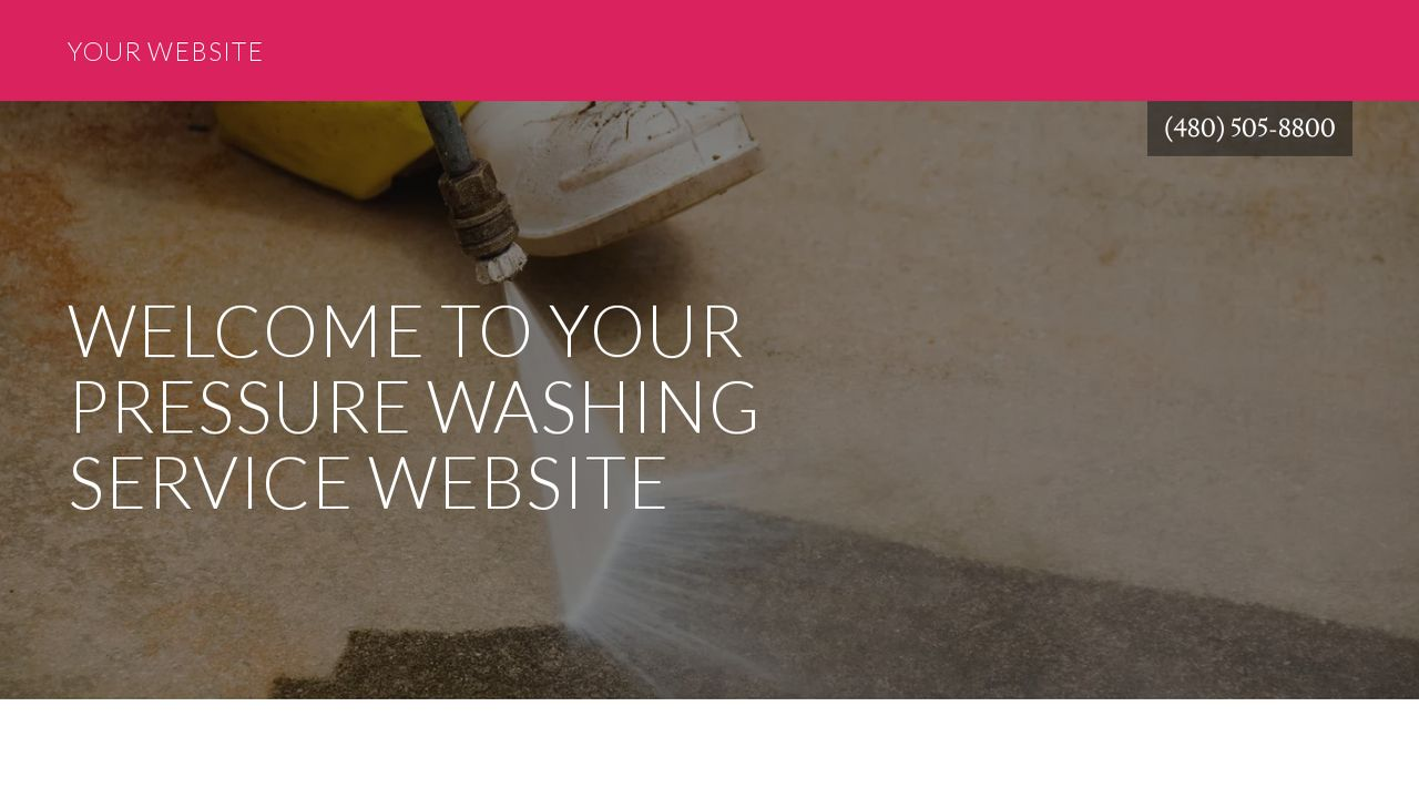 Pressure Washing Service Website: Example 3