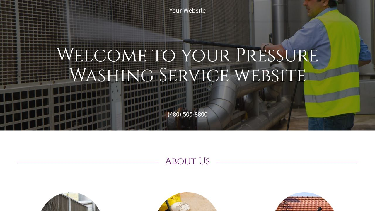 Pressure Washing Service Website: Example 5