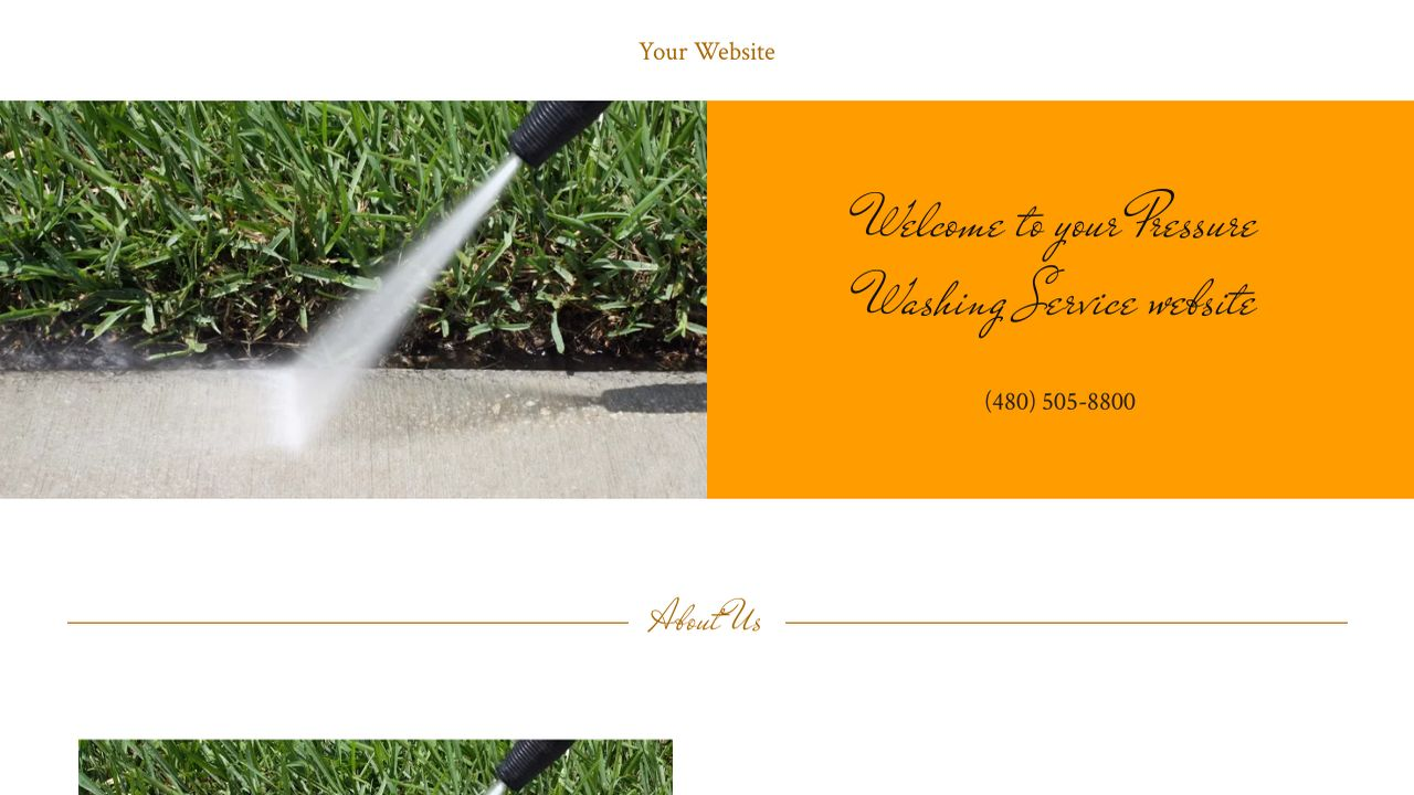 Pressure Washing Service Website: Example 7