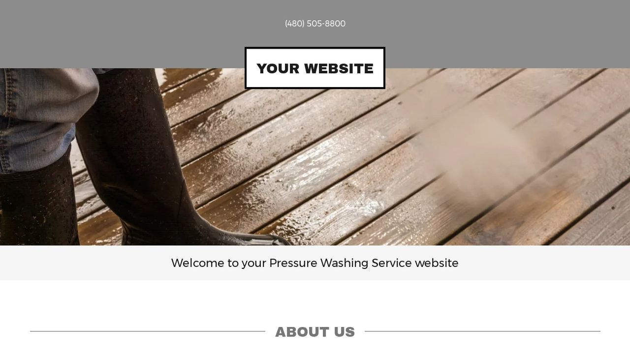 Pressure Washing Service Website: Example 9