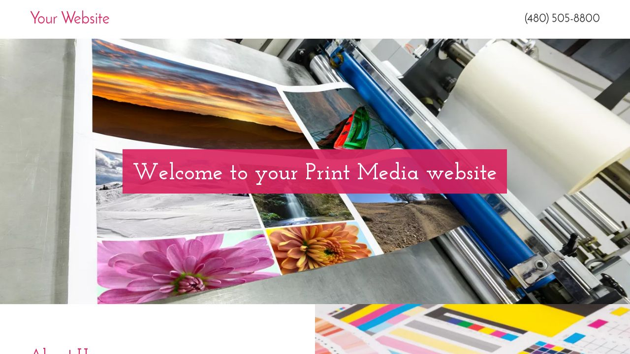 Print media website templates godaddy print media example 12 pronofoot35fo Image collections