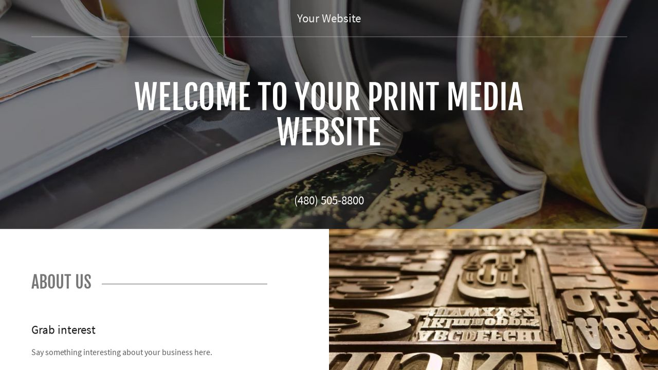 Print media website templates godaddy print media example 2 pronofoot35fo Choice Image