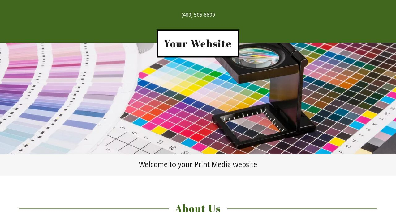 Print Media Website Templates Godaddy