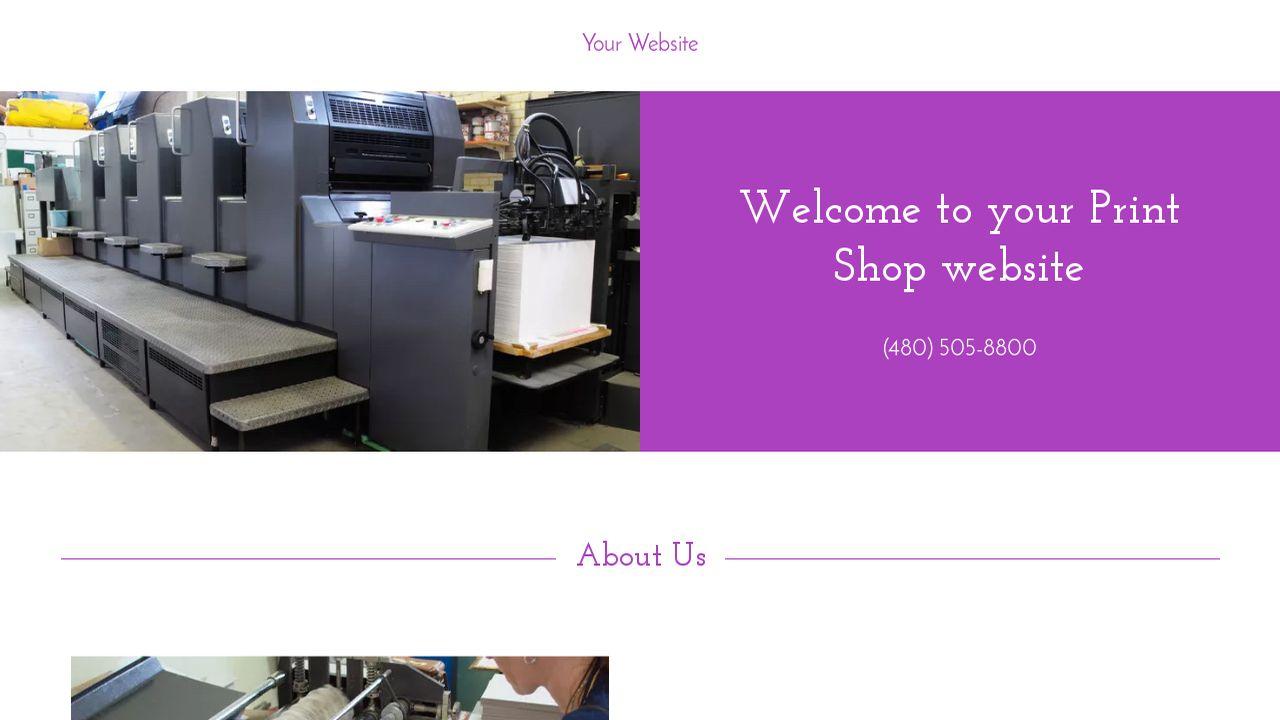 print shop website templates godaddy. Black Bedroom Furniture Sets. Home Design Ideas
