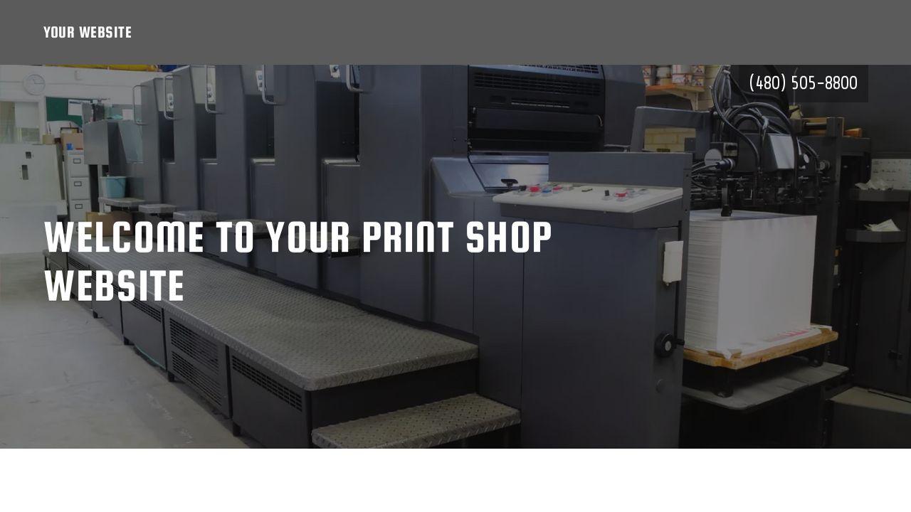 example 4 print shop website template godaddy. Black Bedroom Furniture Sets. Home Design Ideas