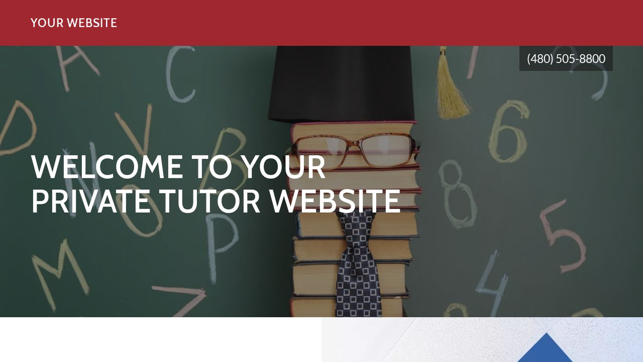 Private Tutor Website: Example 10