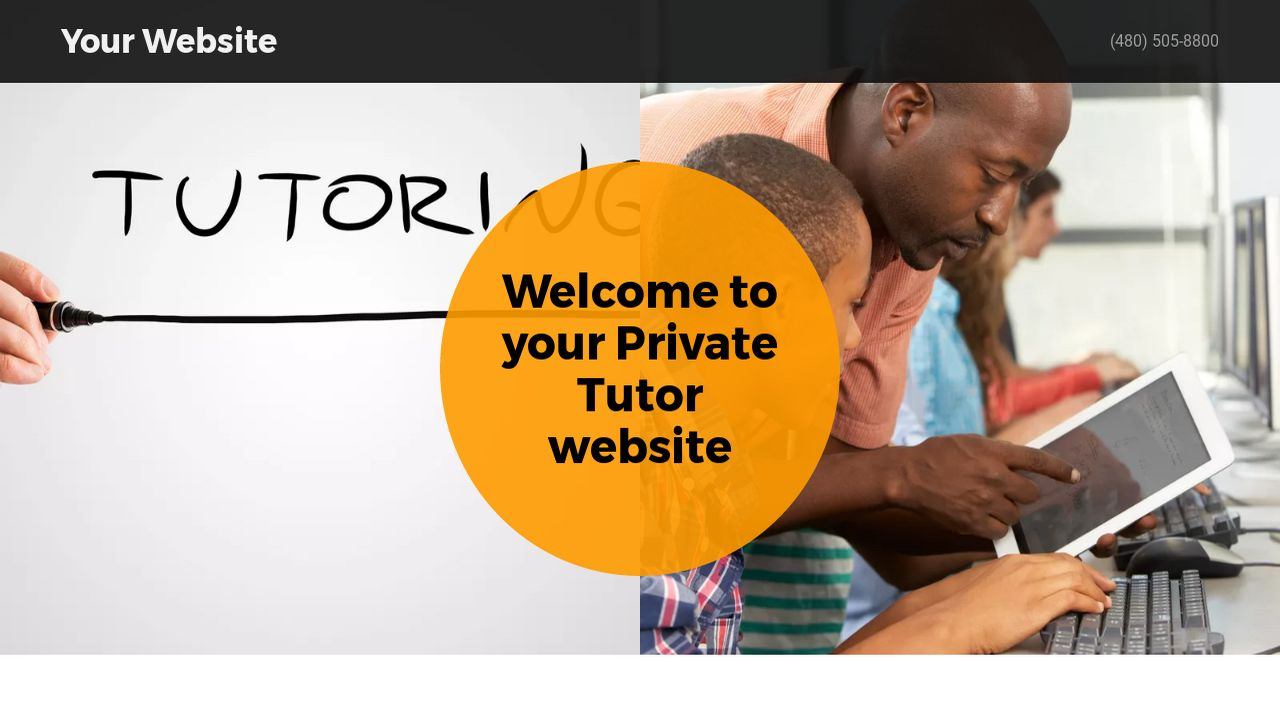 Private Tutor Website: Example 14