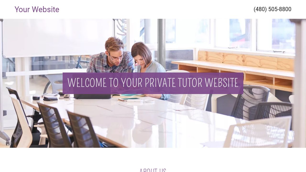 Private Tutor Website: Example 4
