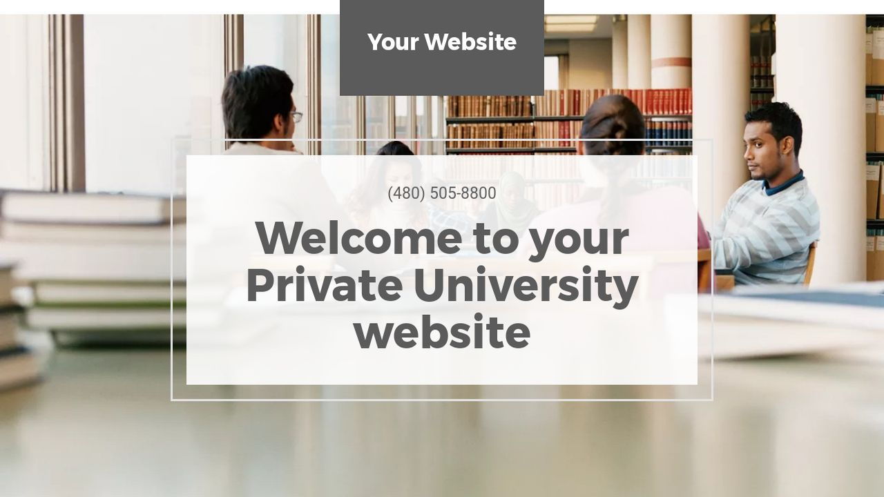 Private University Website: Example 17