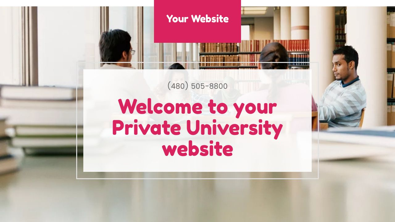 Private University Website: Example 3