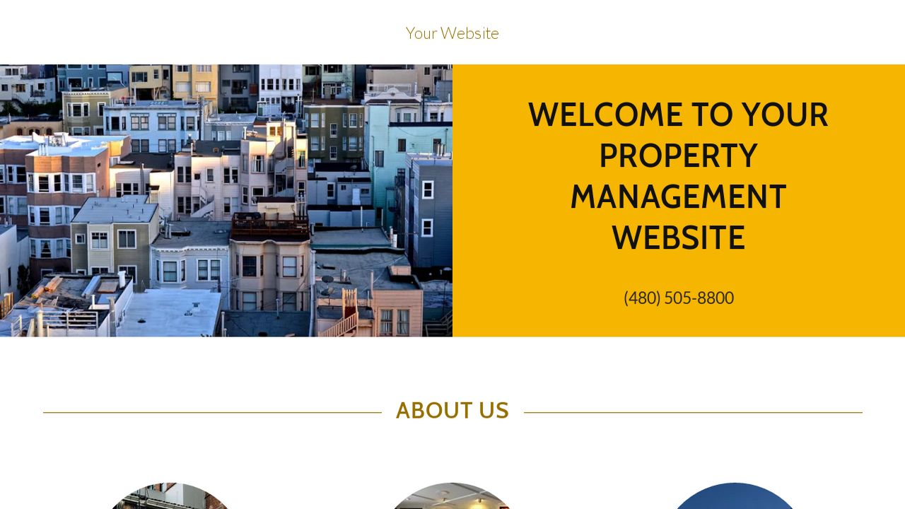 Property Management Website: Example 1