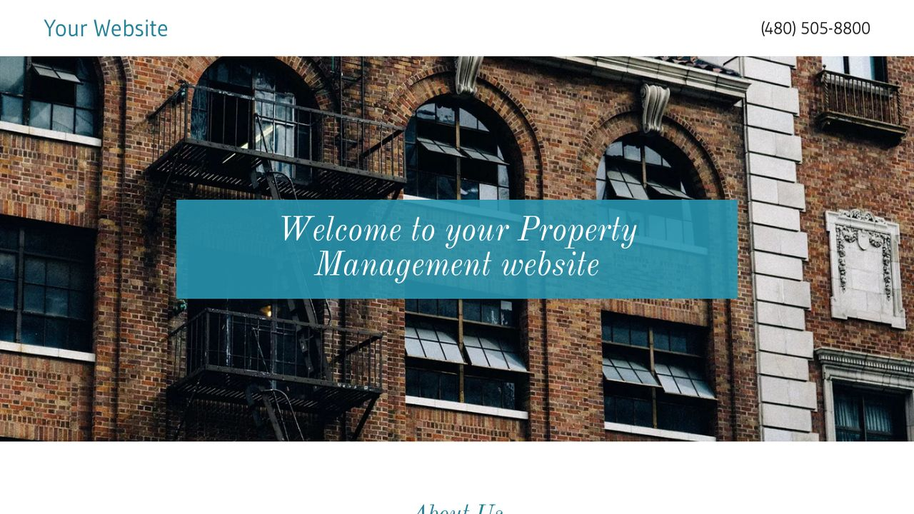 Property Management Website Templates GoDaddy Fine