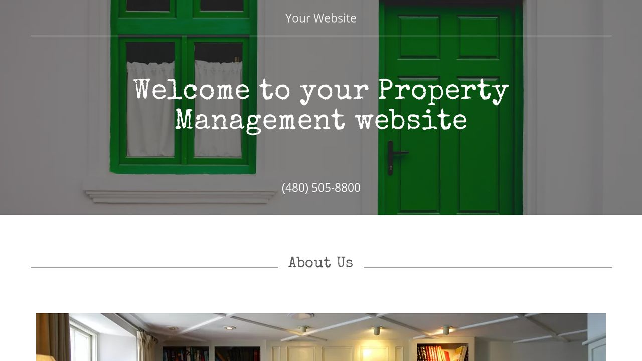 Property Management Website: Example 13