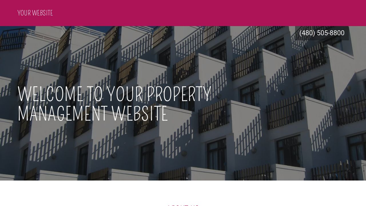 Property Management Website: Example 14