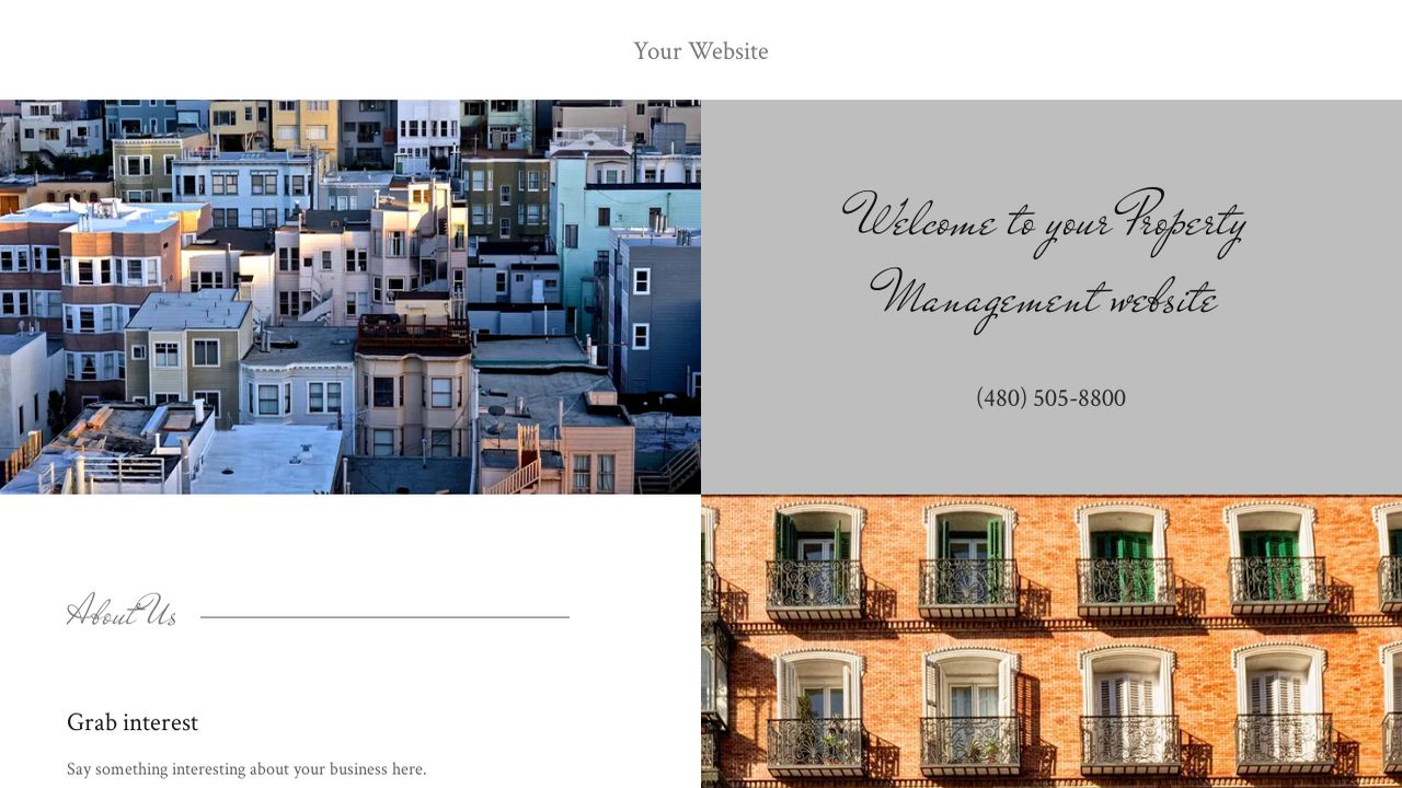 Property Management Website: Example 15